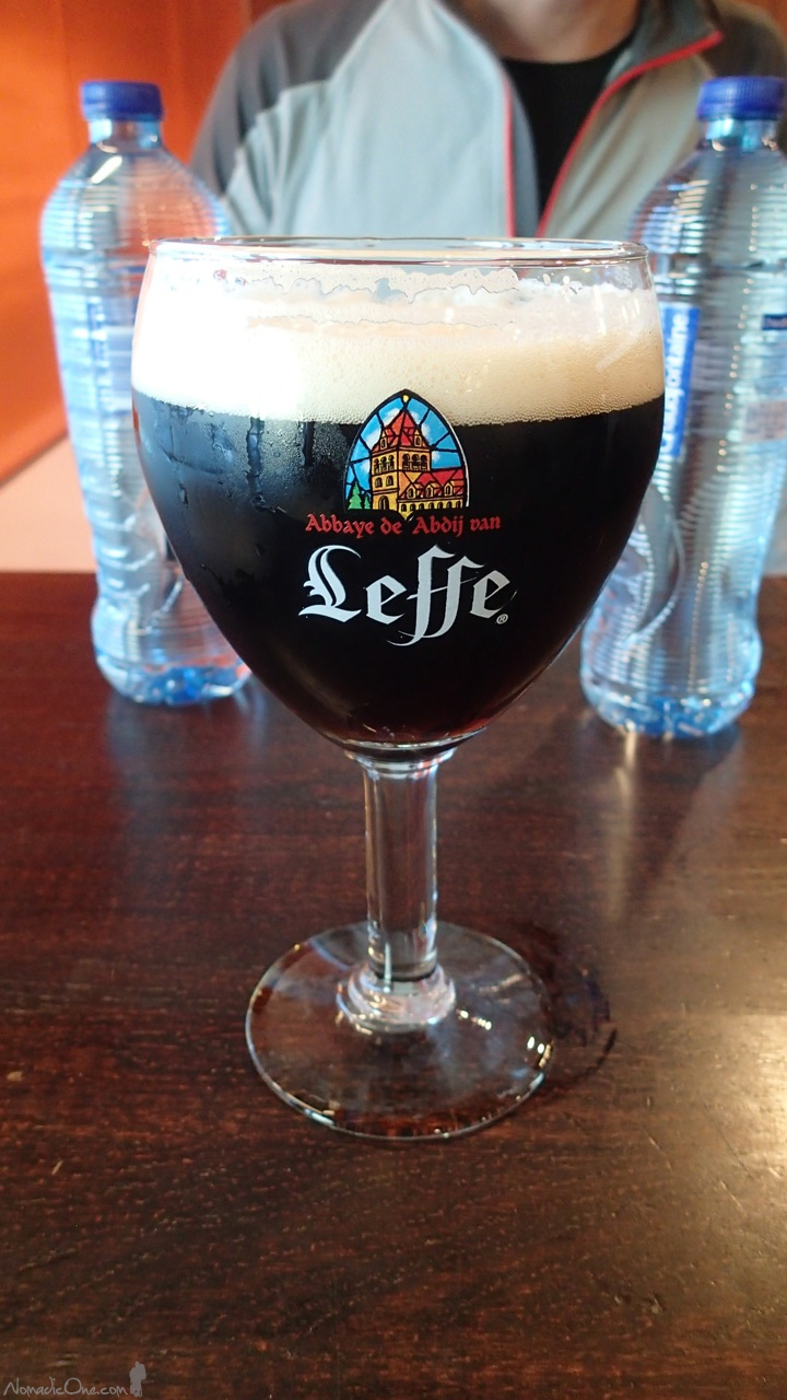 Leffe for Breakfast in Brussels! :)