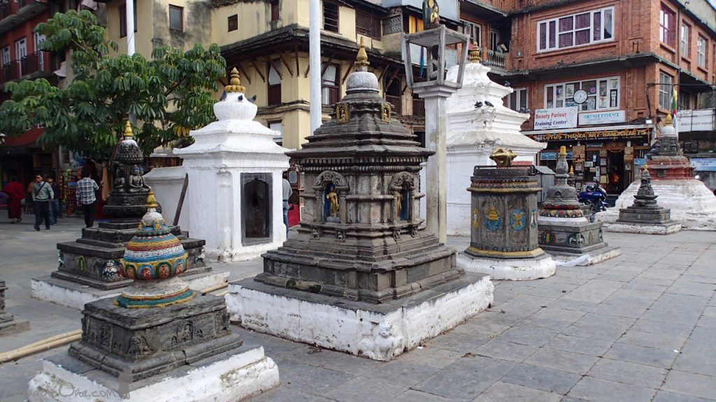 Some of the many shrines spread apart in Thamel