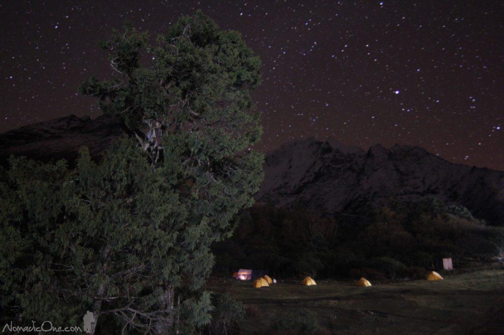 Camping in Tengboche